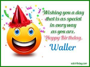 Happy Birthday Waller