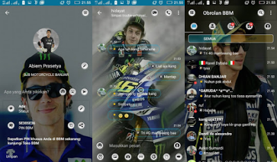 Download BBM Mod Valentino Rossi Apk Terbaru for Android 2017