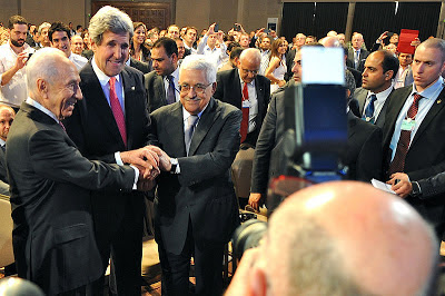 Kerry, Peres and Abbas