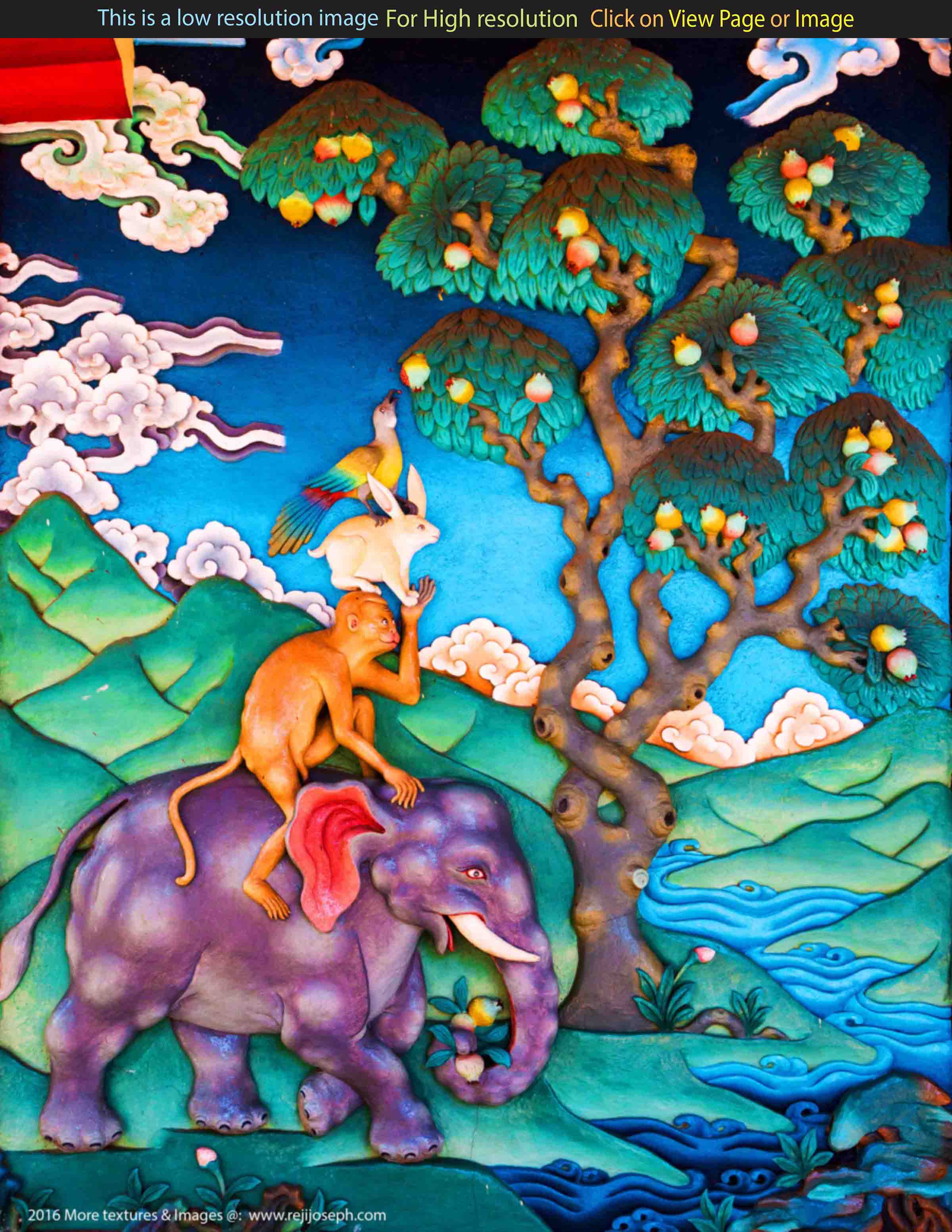 Buddhist relief art paintings 002