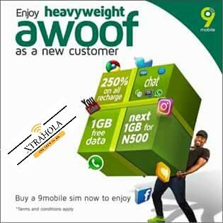 9Mobile Heavyweight Awoof Free 1GB Data Promo