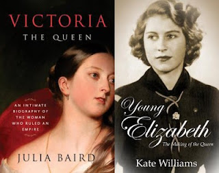 Book covers for Victoria the Queen and Young Elizabeth