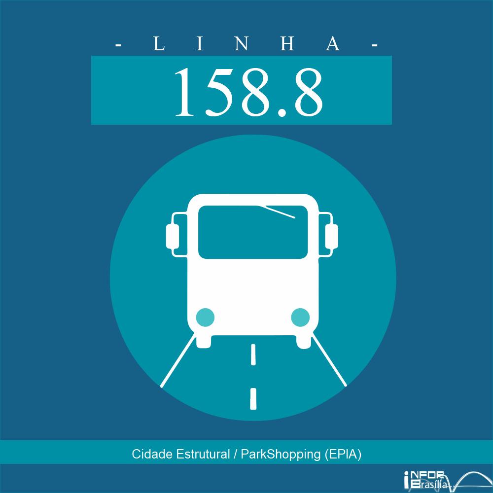 Horário de ônibus e itinerário 158.8 - Cidade Estrutural / ParkShopping (EPIA)