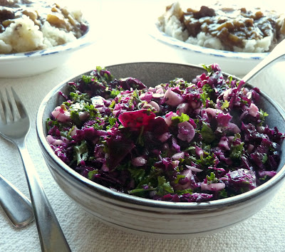 Red Cabbage & Parsley Slaw