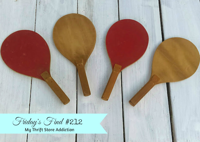 vintage ping pong paddles