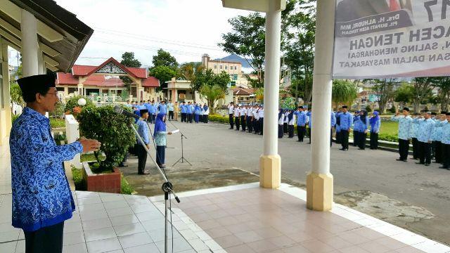 Peringatan HUT Ke-45 Korpri Aceh Tengah Berlangsung Khidmad