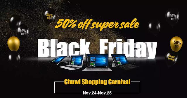 【CHUWI】CHUWI Surbook miniが249ドル!質感の高いデザインが特徴のLapbook Airは379ドル!ブラックフライデーセール開催!