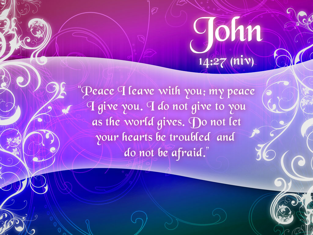 John 14:27 Bible Verse about Peace | Free Christian Wallpapers