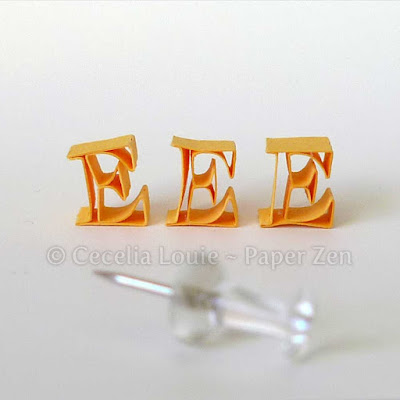 how to paper quilling letter monogram tutorial typography