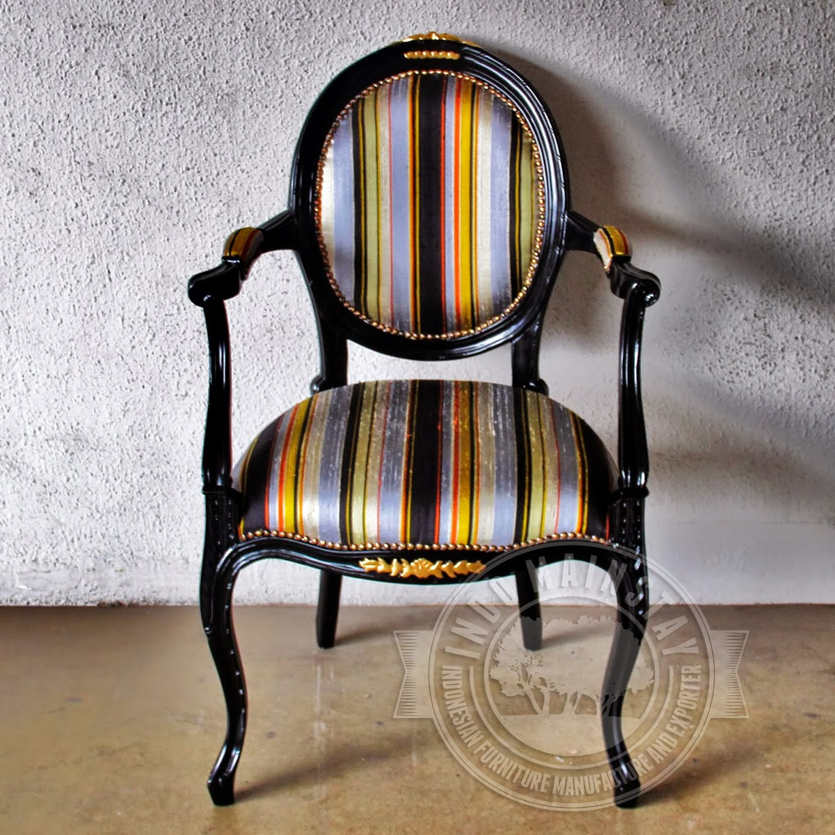 Antique French Chairs Reproduction Antique French Black Oval Dining Arm Chair