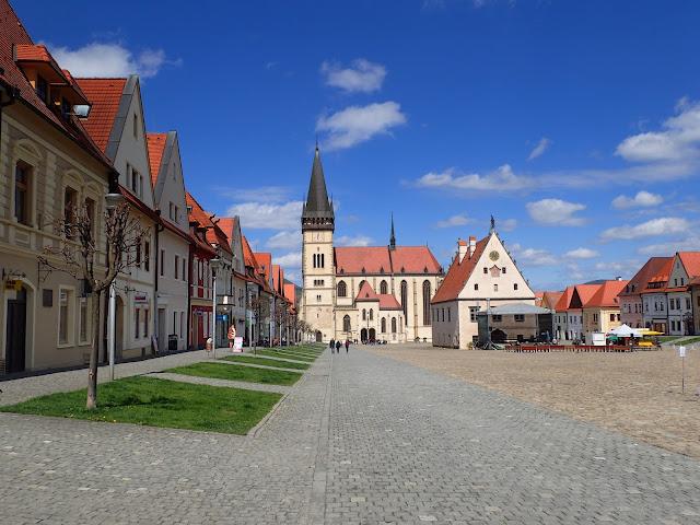 Bardejów - słowackie miasteczko tuż za granicą. Ładnie tam!
