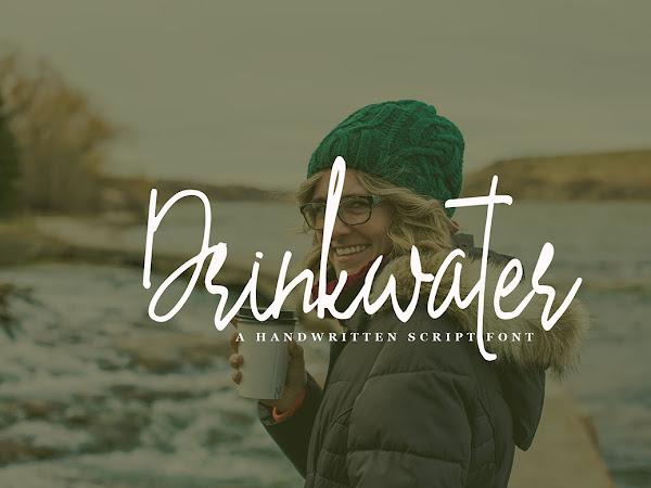 Drinkwater Handwritten Script Font Free Download