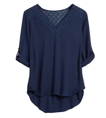 PAPERMOON Heather Lace Detail Blouse, Stitch Fix
