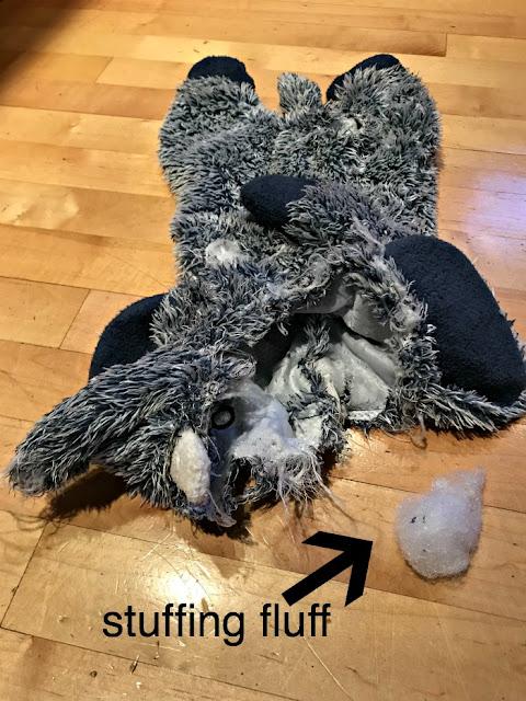 Unstuffed elephant dog toy