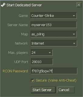 Create dedicated server on cs 1. 6 youtube.