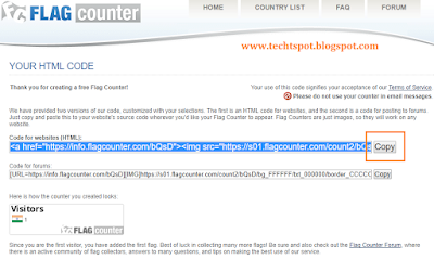 Add Flag Counter To Blogger 2