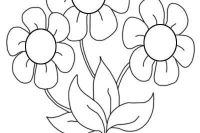 Bunga Gambar Mewarnai