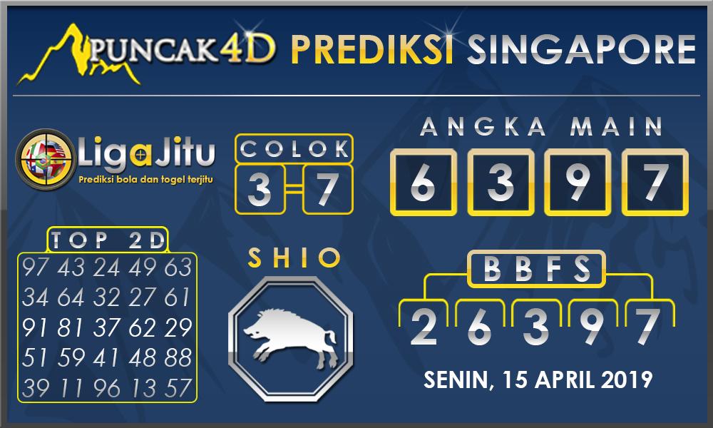 PREDIKSI TOGEL SINGAPORE PUNCAK4D 15 APRIL 2019
