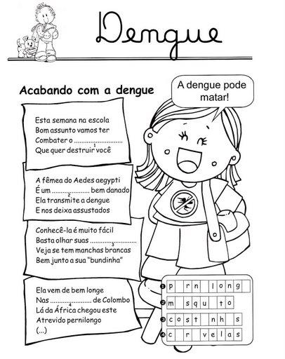 50 Atividades E Desenhos Para Colorir Sobre Dengue Espaco Educar