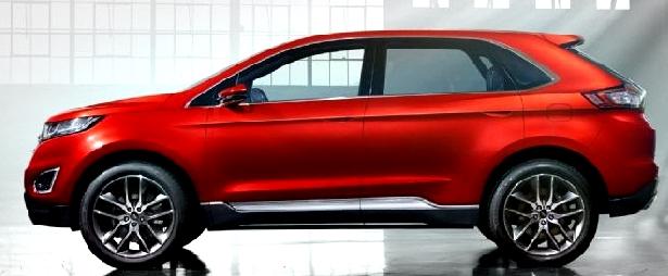 Ford Edge Titanium 2017 rojo