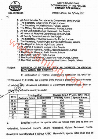 Revised-Rates-of-Daily-Allowance-Punjab-Government-Notification-2017-Finance-Department-Govt-of-Punjab