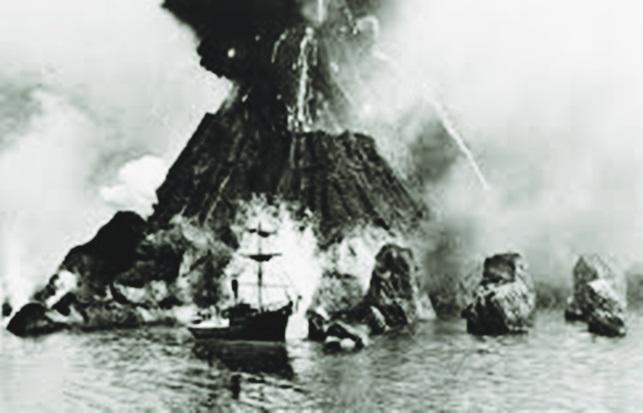 Gambar ilustrasi Letusan gunung krakatau tahun 1883