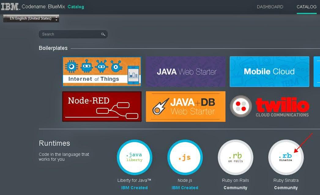 Learning BlueMix: Deploy HelloWorld Ruby Sinatra web
