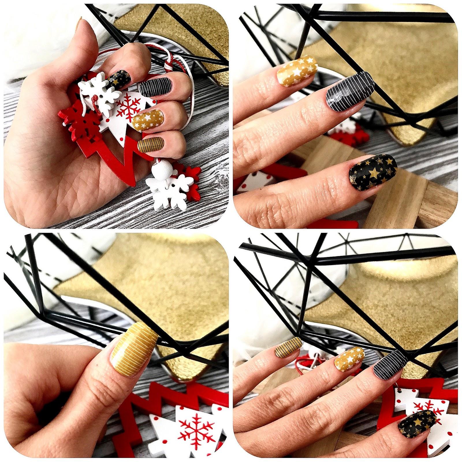 zdjęcie przedstawiające Manirouge Christmas Star na paznokciach