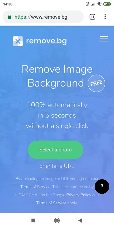 cara menghapus background foto otomatis di android