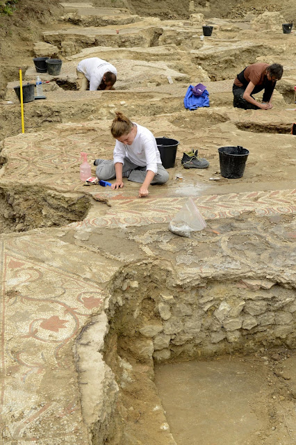 Roman 'domus' with mosaic floors unearthed in Auch, France