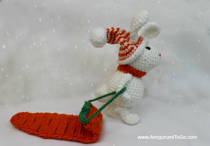 Amigurumi To Go Coraline : Carrot sled for winter bunny amigurumi to go