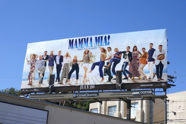 Mamma Mia Here We Go Again movie billboard