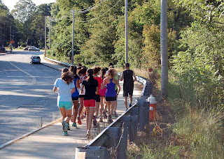 the FHS girls cross country team out for their workout