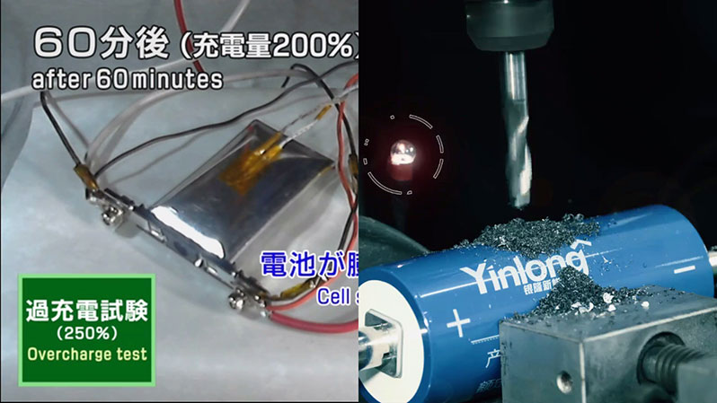 Official safety tests of Toshiba and Yinlong Lithium Titanate (LTO) batteries