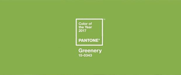 Cores Pantone 2017 Greenery