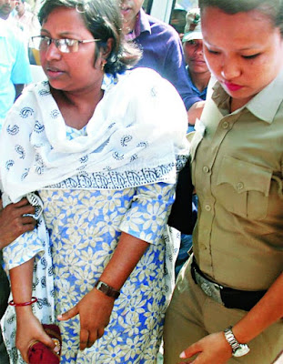 Sashmita Ghosh on the premises of a Jalpaiguri court