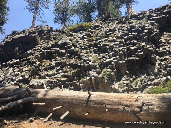 Devils Postpile National Monument in Mammoth Lakes, California