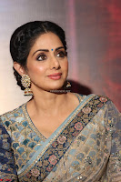 Sri Devi in designer saree stunning beauty at the launch of MOM movie Trailer~  Exclusive 123.JPG