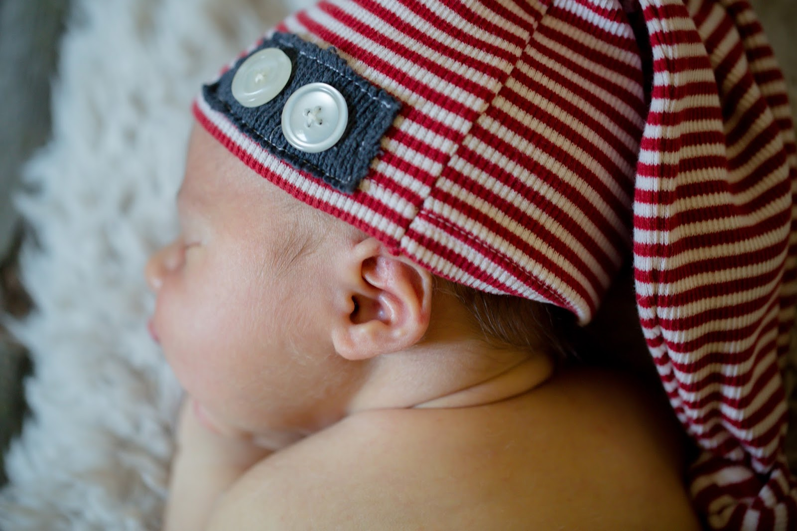 newborn sleepy cap