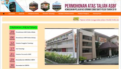 Permohonan Asrama Semai Bakti FELDA 2019 ASBF Online