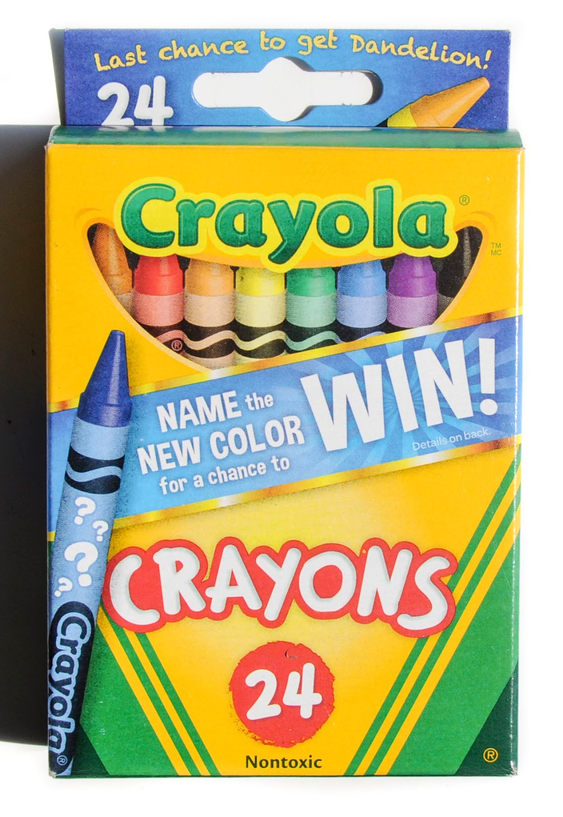 crayola name the new color dandelion retirement boxes what s inside