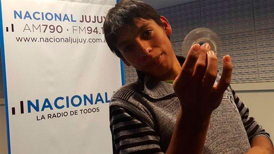 Un joven de La Quiaca fabrica spinners con una impresora 3D casera