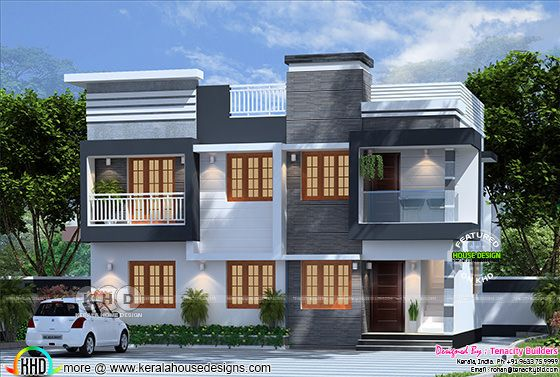 Beautiful Box duplex home in Kerala