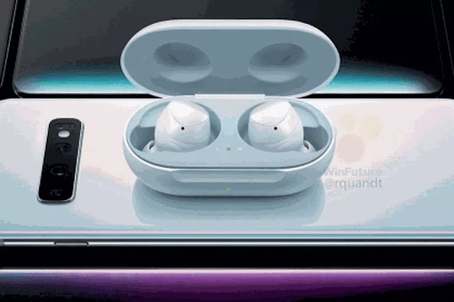 Samsung's new wireless earphones appear in a leaked promotional image