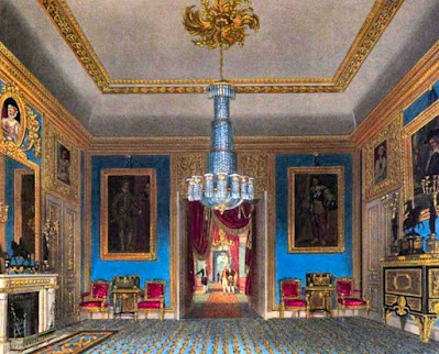 Ante Room looking north, Carlton House, from The History of the Royal Residences by WH Pyne (1819)