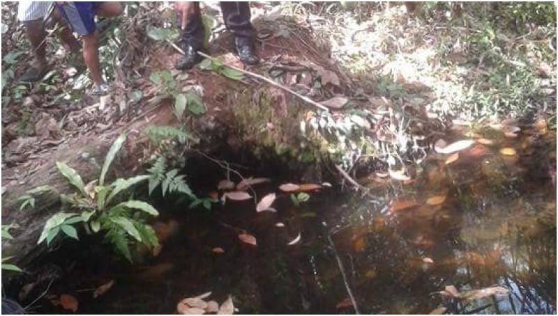 Lokasi pembuangan mayat ibu dan 2 anak di Gunung Mas, Kalteng