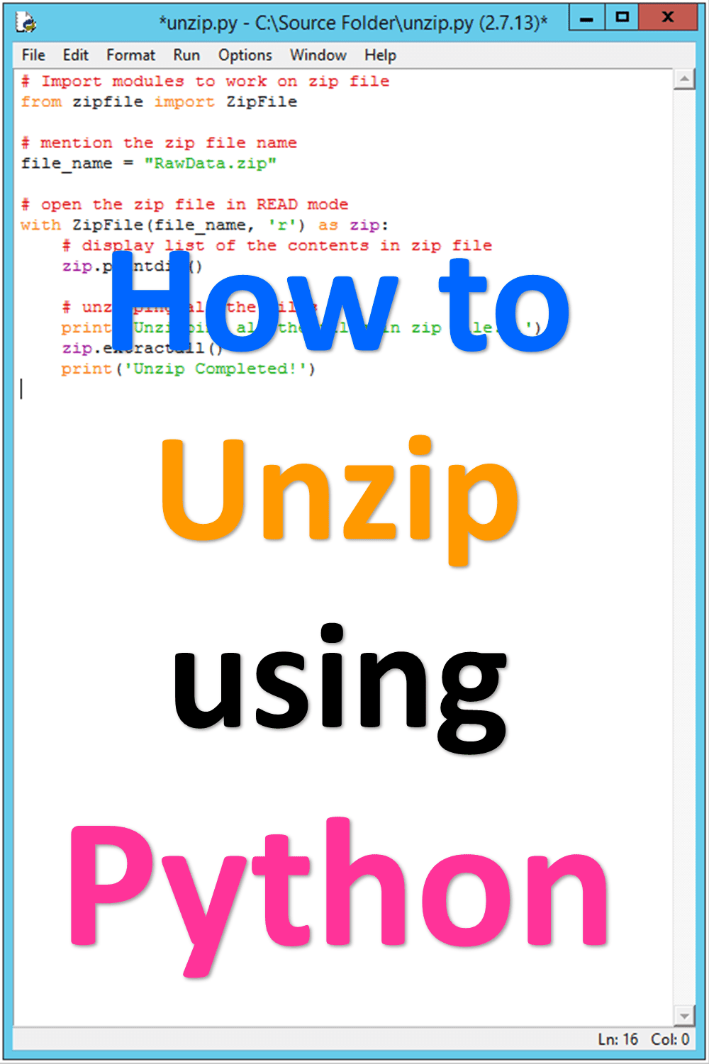 How to unzip files using Python? - Simple MS Office - VBA