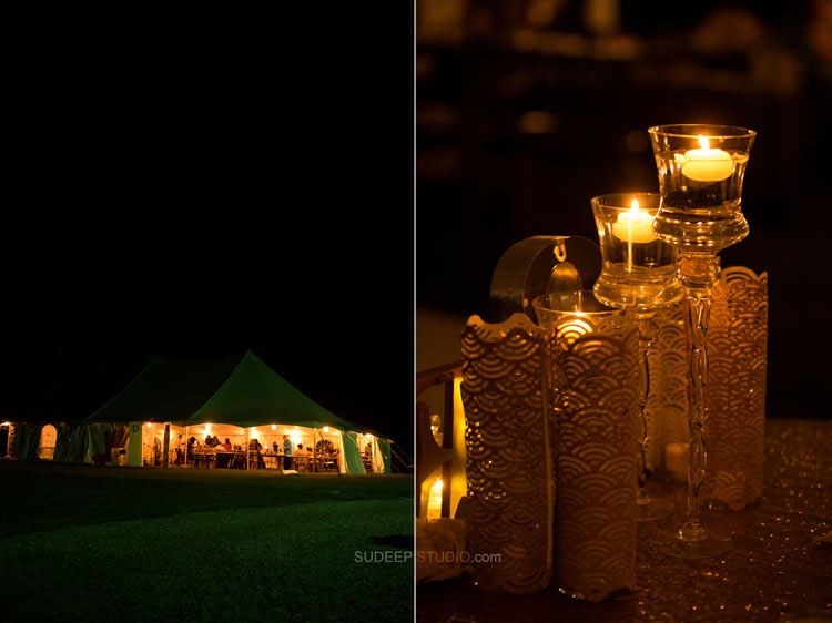 Countryside Farm Wedding Night Lights in Tent Rustic Wedding Photography - Sudeep Studio.com Ann Arbor Photographer