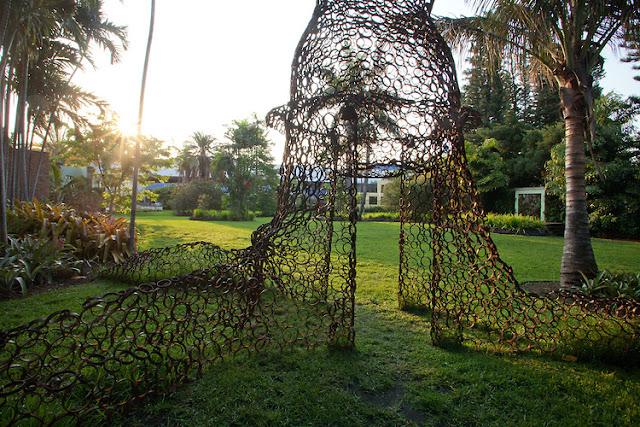 Jardim botânico de Miami Beach: entrada