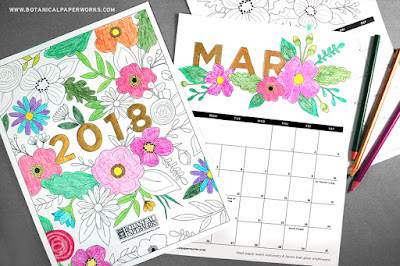 free 2018 monthly calendar